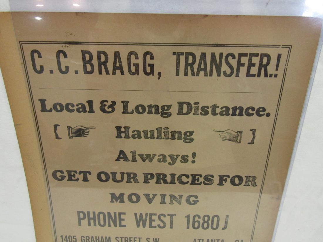 C.C. Bragg Transfer Advertising Flyer - 2