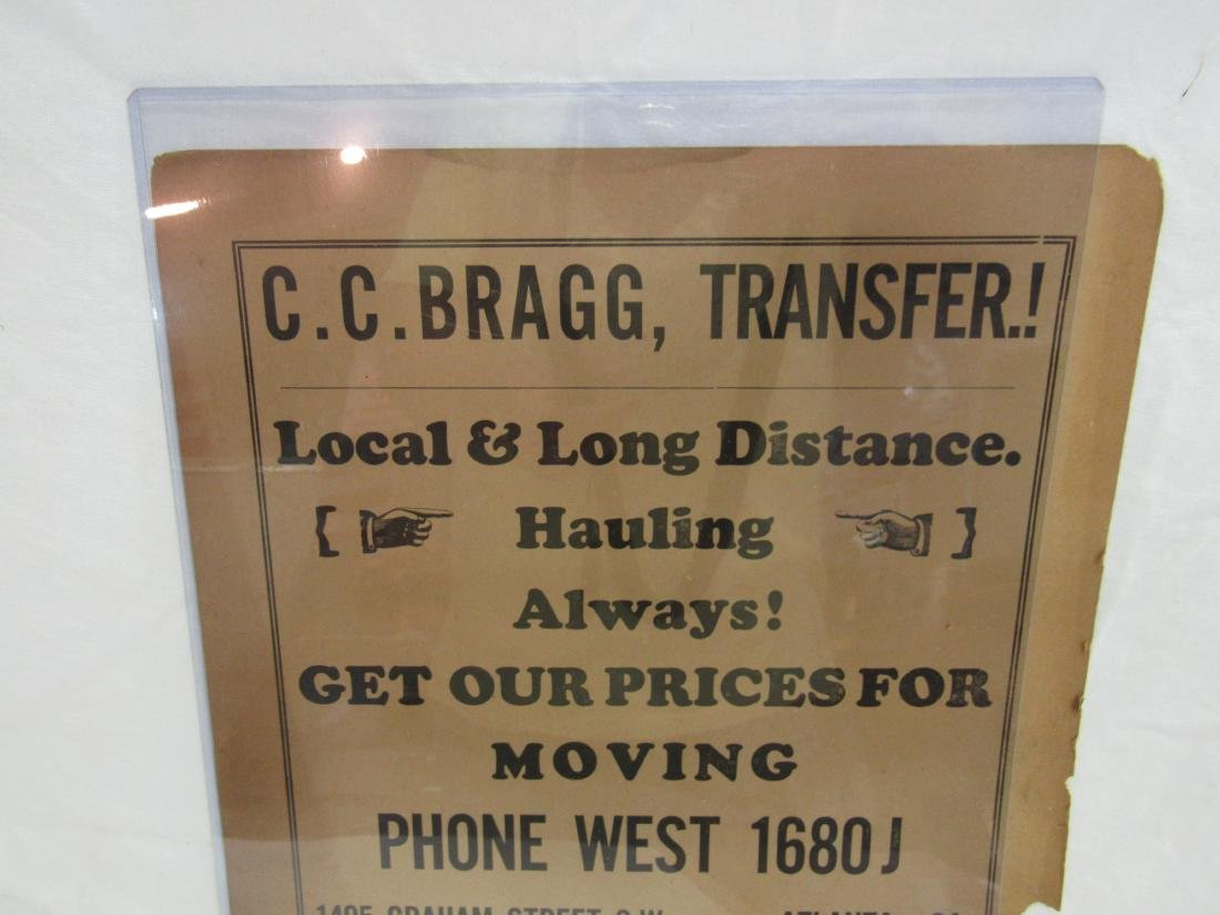 C.C. Bragg Transfer Advertising Flyer - 2