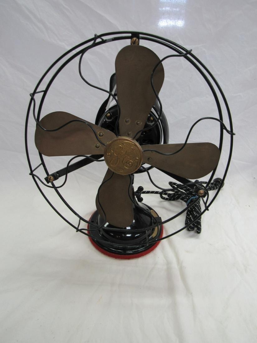"""1930s/1940s Antique GE 12"""" Brass Bladed Fan"""