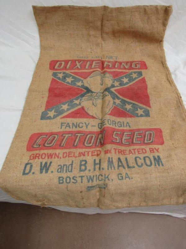 Rare Bostwick, Ga Dixie King Cotton Seed Sack