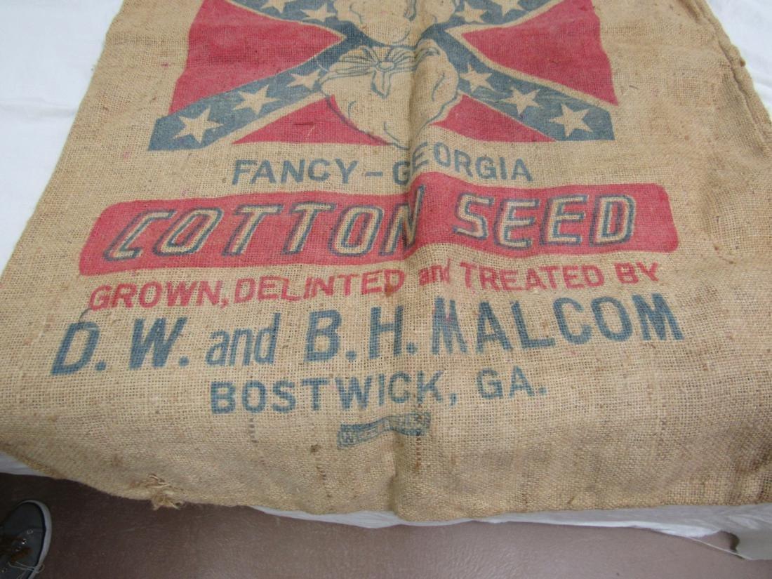 Rare Bostwick, Ga Dixie King Cotton Seed Sack - 3