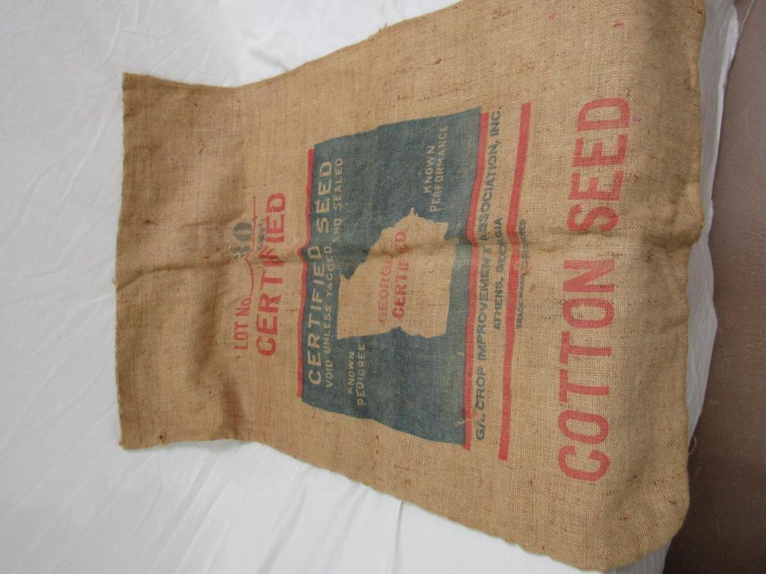 Rare Bostwick, Ga Dixie King Cotton Seed Sack - 4