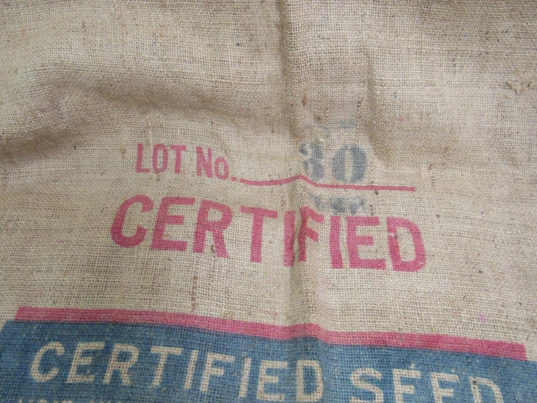 Rare Bostwick, Ga Dixie King Cotton Seed Sack - 5