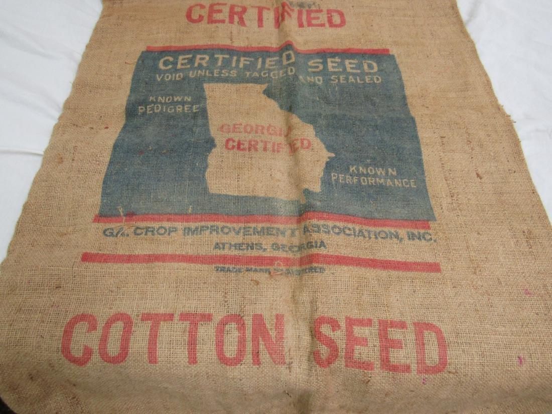 Rare Bostwick, Ga Dixie King Cotton Seed Sack - 6