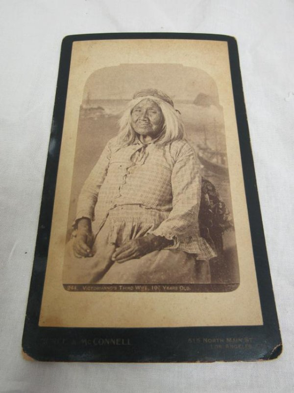 Cabinet Card of Apache Woman, Identified