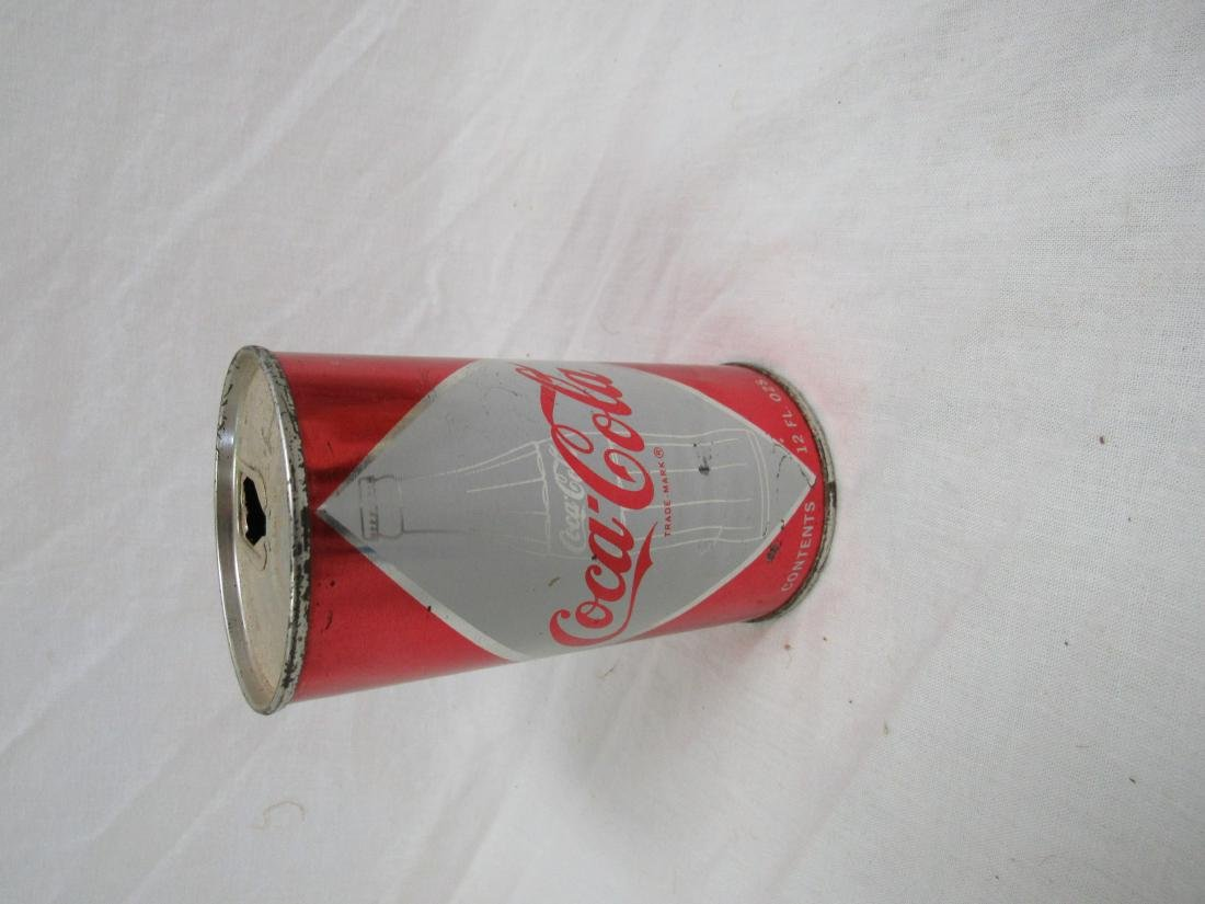 Vintage 1950's Diamond Coke Can