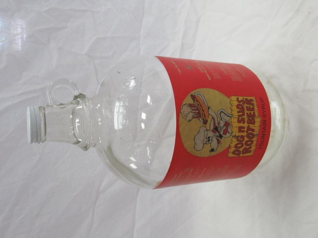 Vintage Dog n Suds Rootbeer Syrup Jug