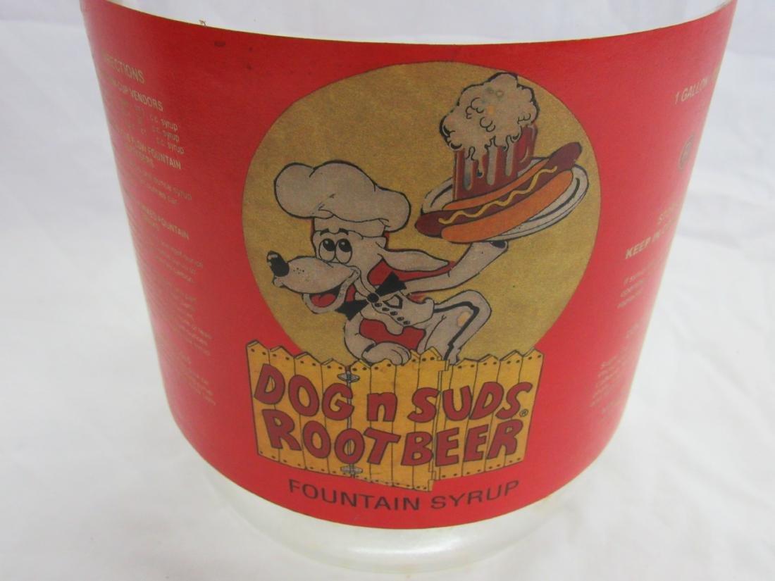Vintage Dog n Suds Rootbeer Syrup Jug - 2