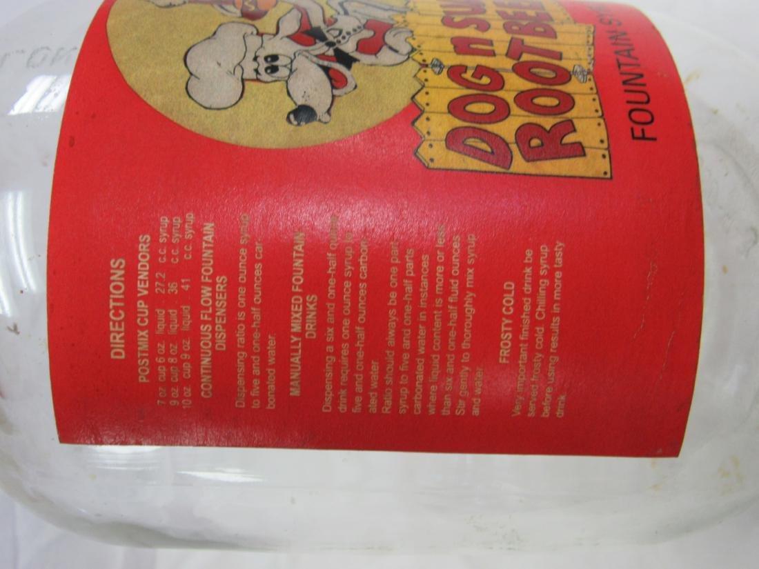 Vintage Dog n Suds Rootbeer Syrup Jug - 4