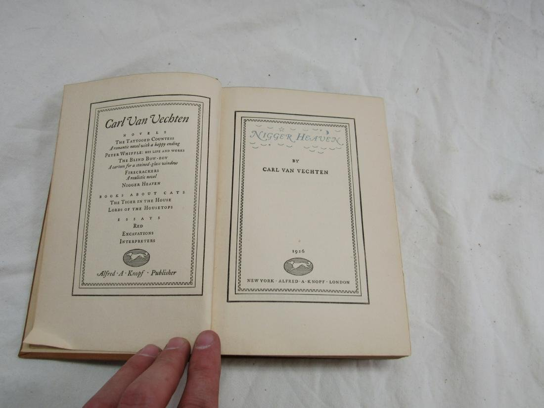 1926 Publishing of Ni**er Heaven by Carl Van Vechten - 3