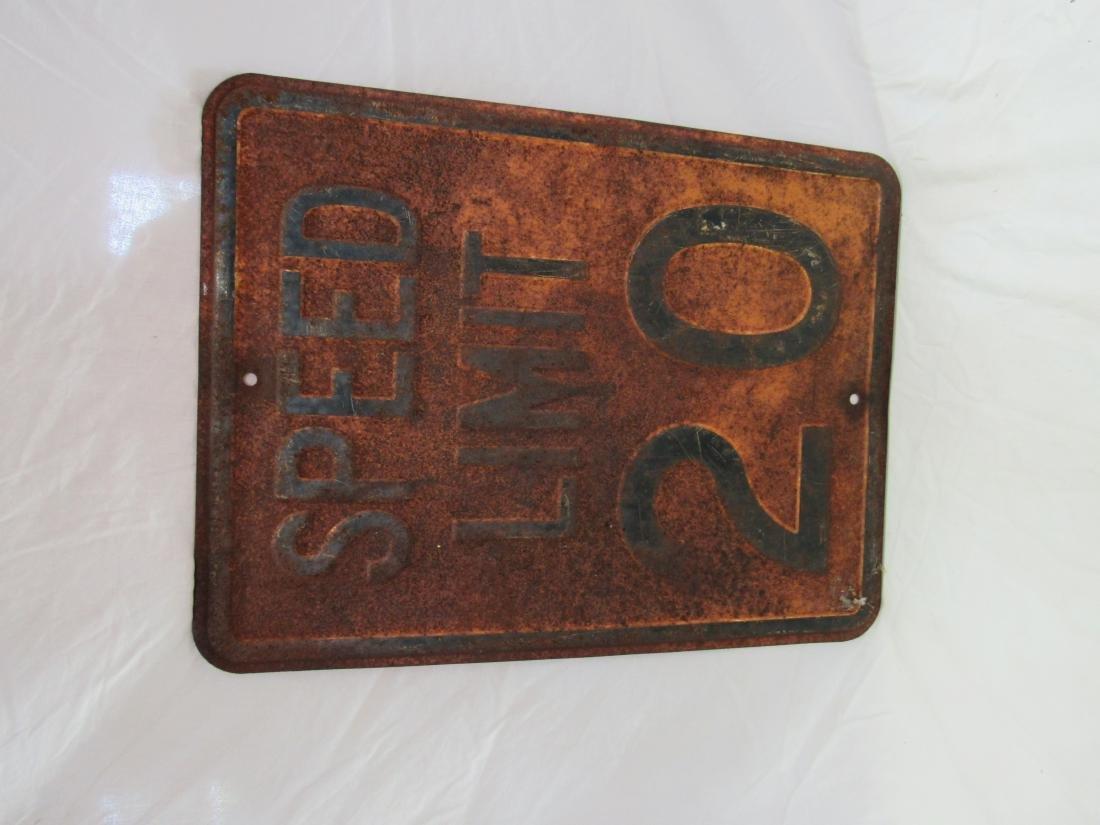 Vintage Embossed Speed Limit Sign