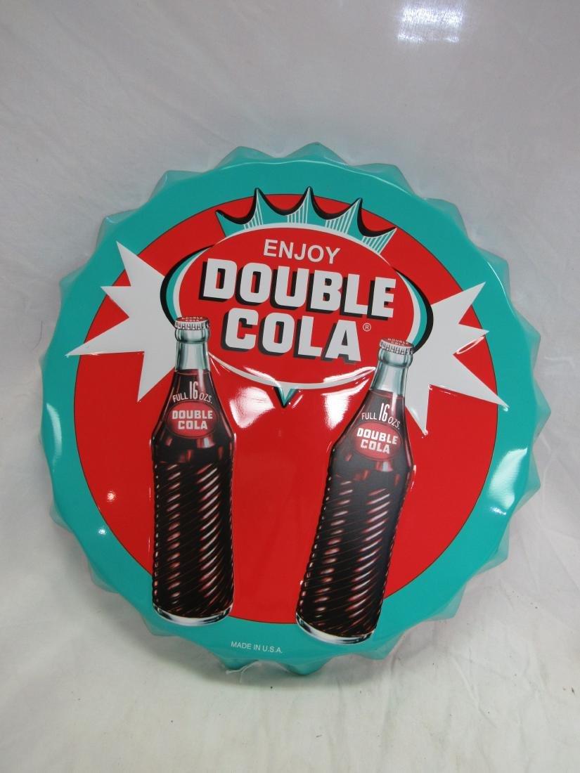 """22"""" Double Cola Bottle Cap Sign"""