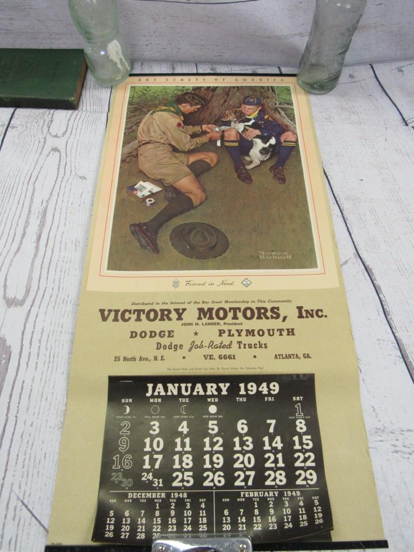 NOS Boy Scouts of America 1949 Calendar