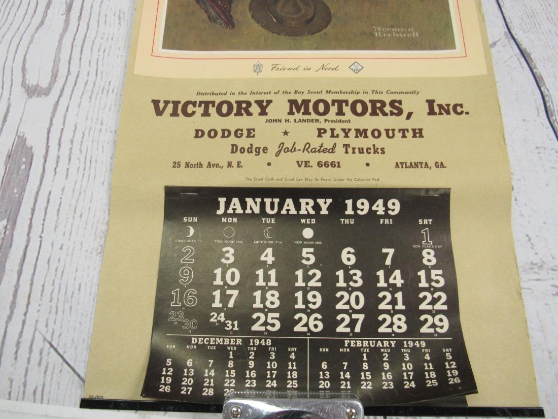 NOS Boy Scouts of America 1949 Calendar - 3