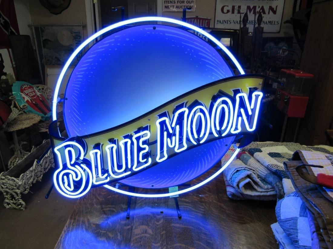 Blue Moon Beer Neon Sign