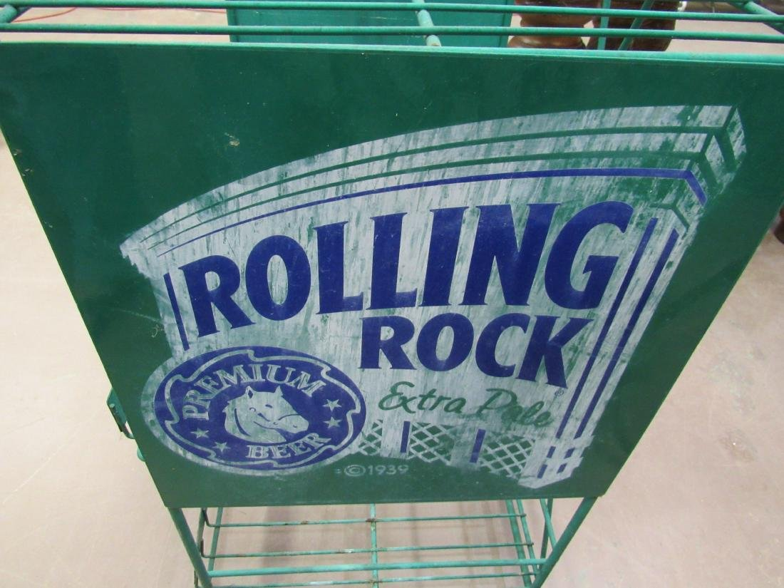 Rolling Rock Beer Bottle Rack - 6