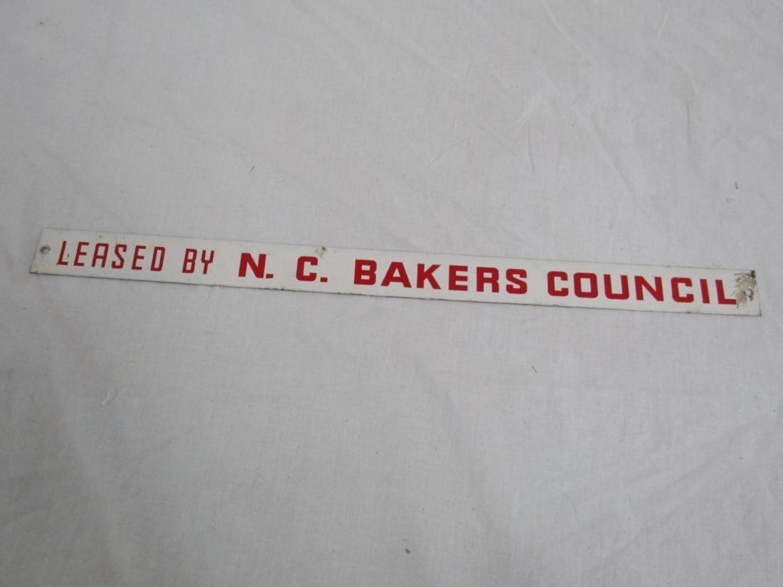 Leased by N.C. Bakers Council Sign