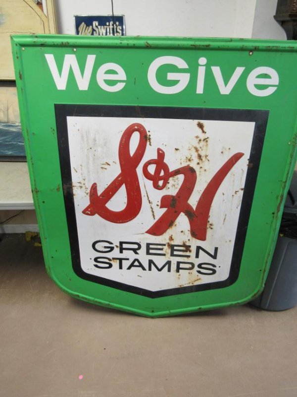 Stout Sign Company S&H Green Stamps. Single Sided Sign.