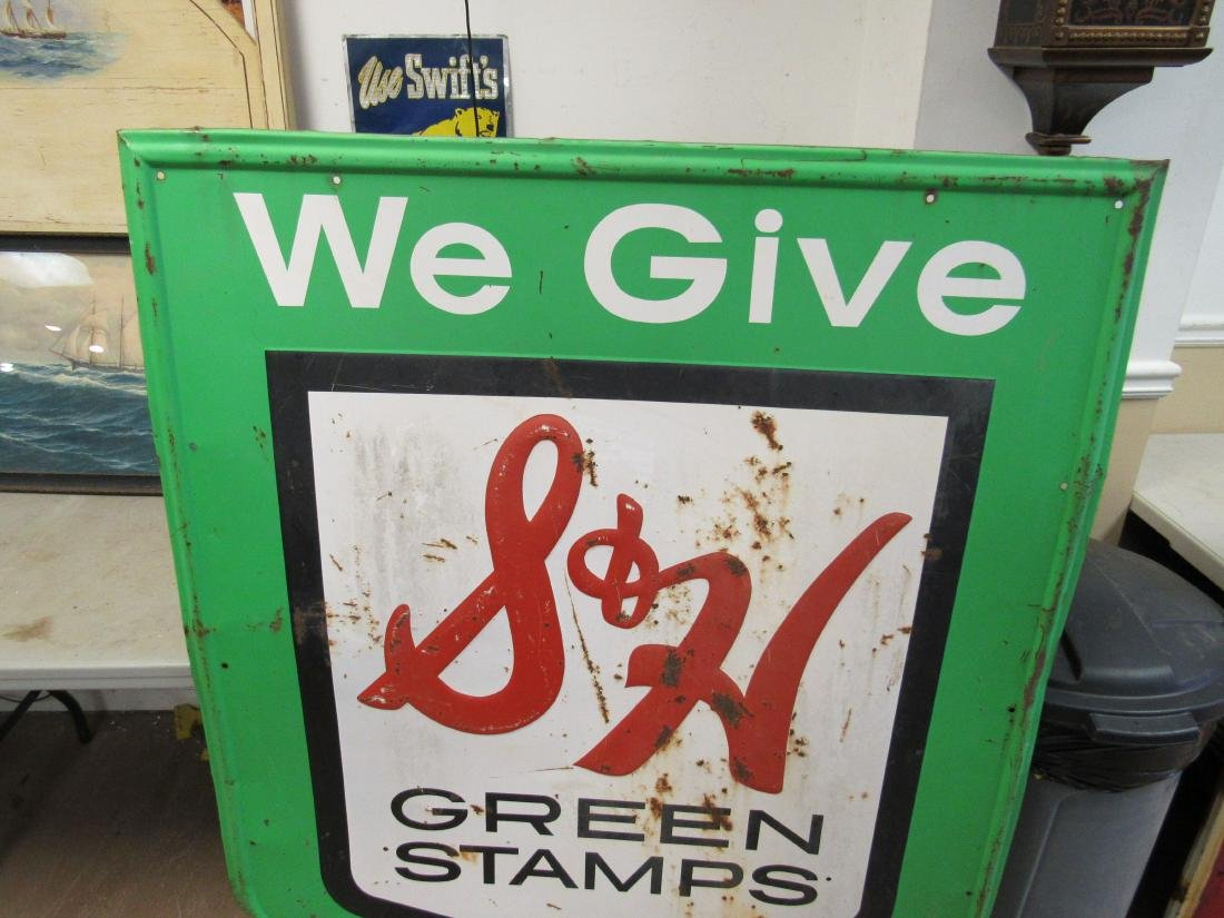 Stout Sign Company S&H Green Stamps. Single Sided Sign. - 2