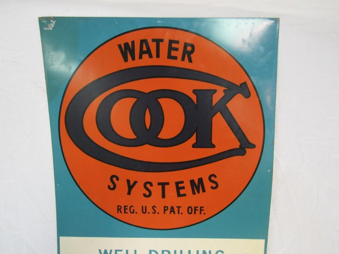 NOS Cook Water Systems Tin Sign - 2