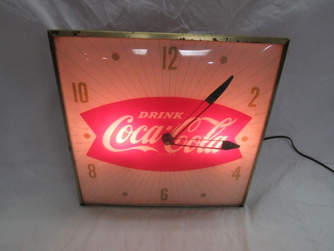 Vintage Coca-Cola Fish Tail Pam Clock