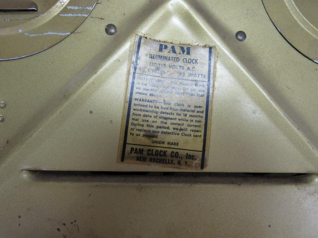 Vintage Coca-Cola Fish Tail Pam Clock - 4