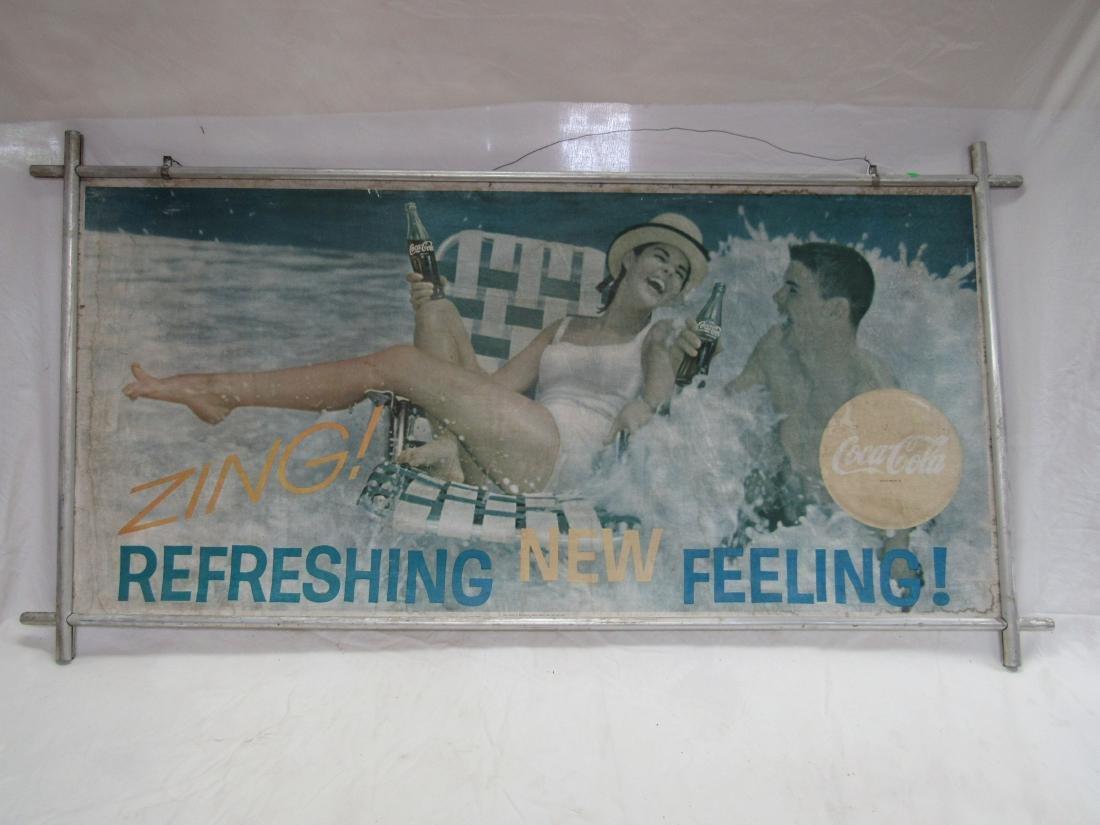 Vintage Coca-Cola Carboard Sign