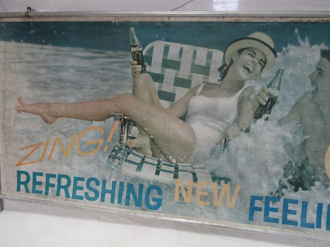 Vintage Coca-Cola Carboard Sign - 3
