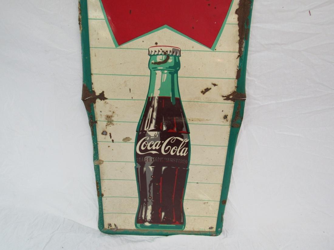 1960 Robertson Coca-Cola Fishtail Sign - 3