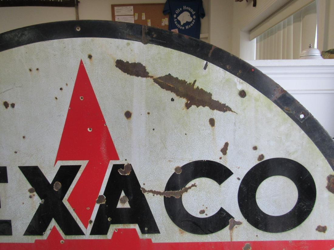 "72"" Double Sided Porcelain Texaco Sign - 4"