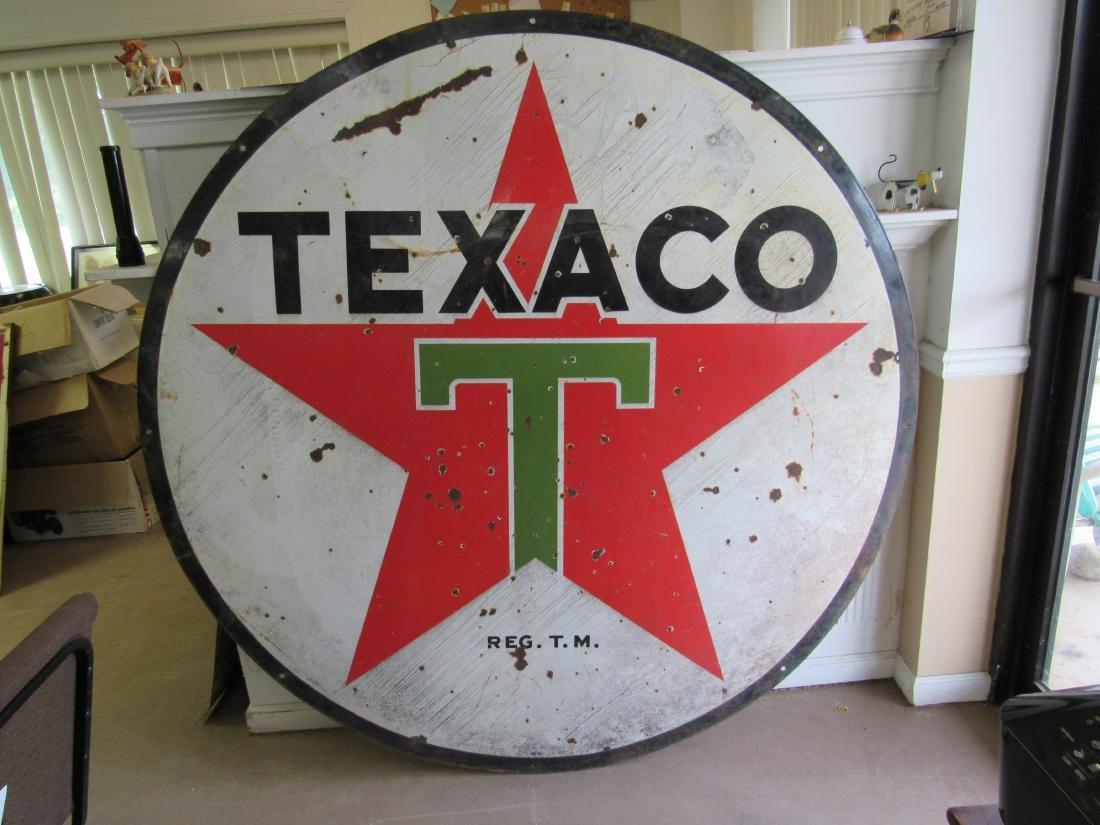 "72"" Double Sided Porcelain Texaco Sign - 5"