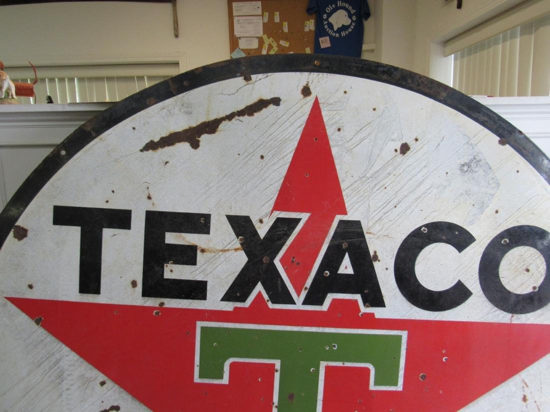 "72"" Double Sided Porcelain Texaco Sign - 7"