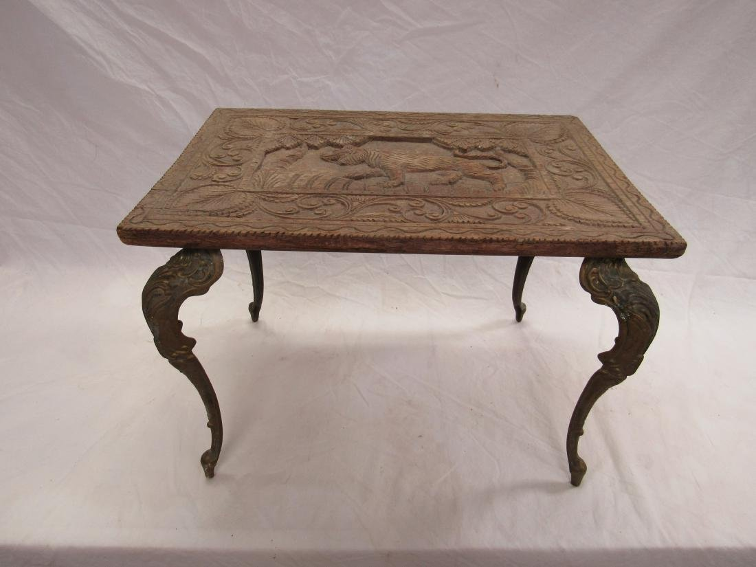 Intricately Carved 19th Century Table