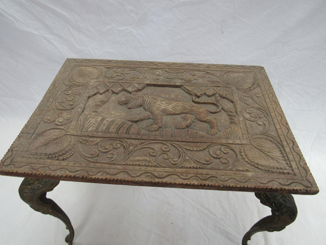 Intricately Carved 19th Century Table - 2