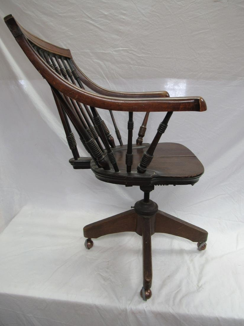 Ornate Antique Office Chair - 4