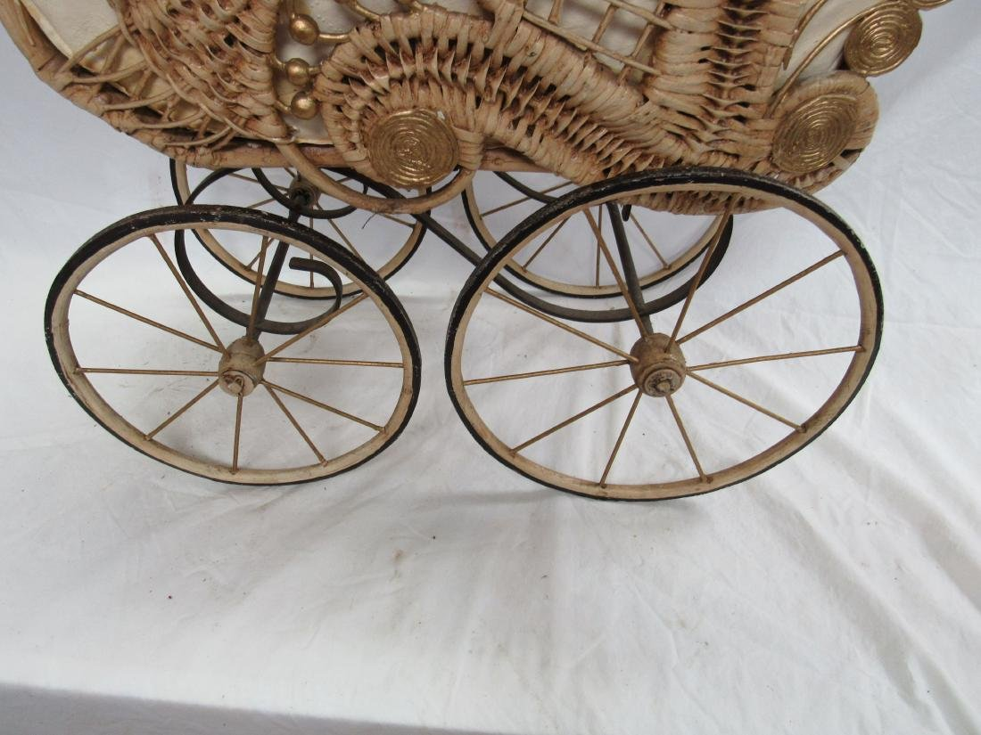 Victorian Stick and Ball Wicker Stroller - 2