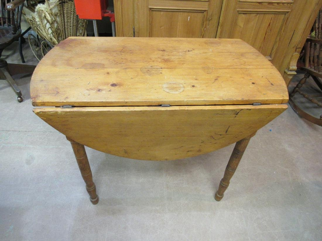 Primative Pine Drop Leaf Table