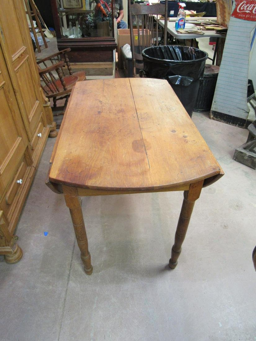 Primative Pine Drop Leaf Table - 2