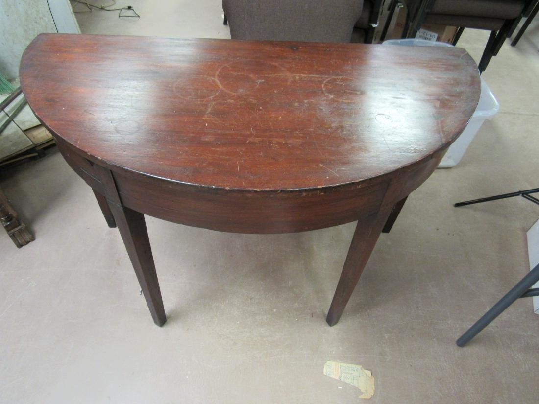 1790's American Demilune Table