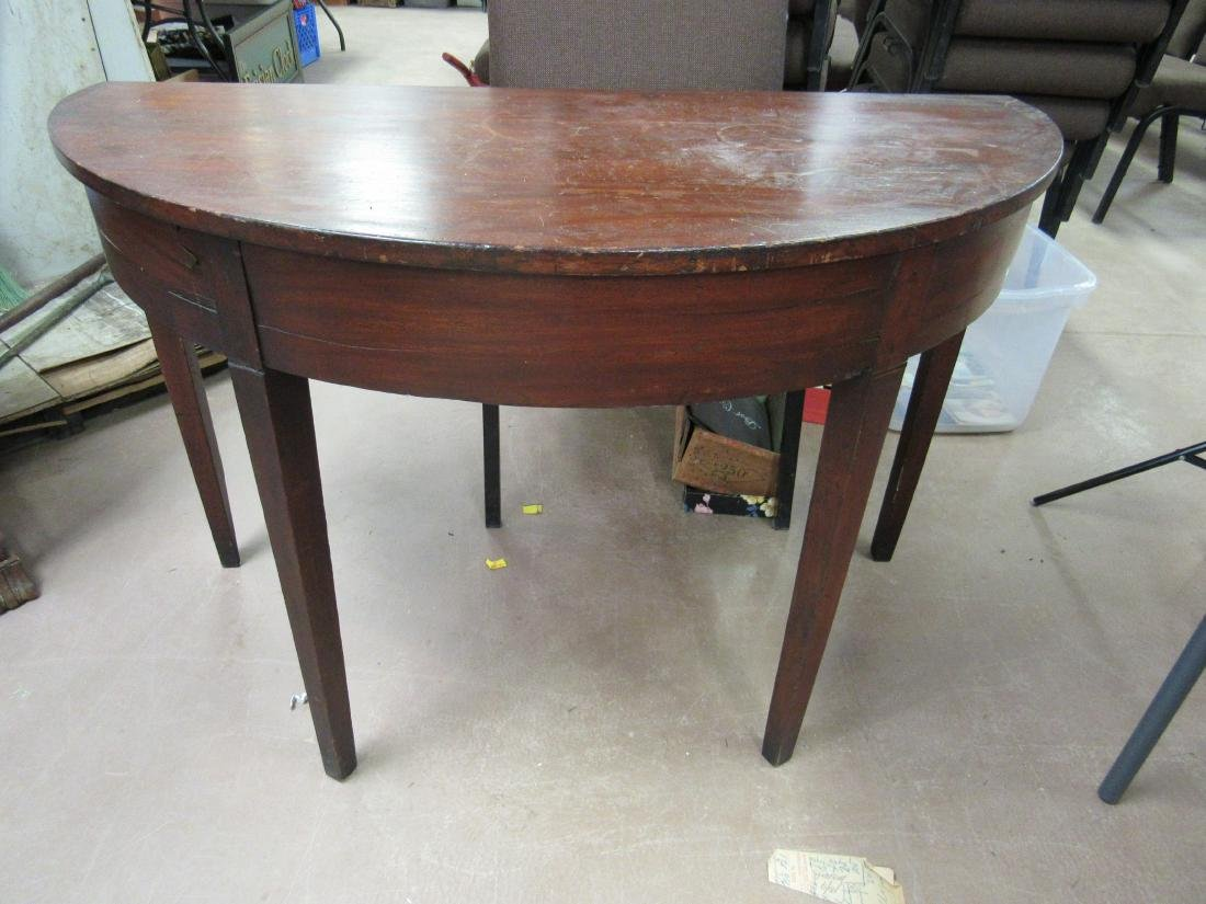 1790's American Demilune Table - 2