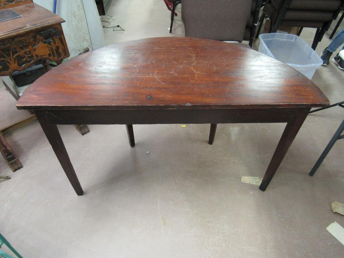1790's American Demilune Table - 4