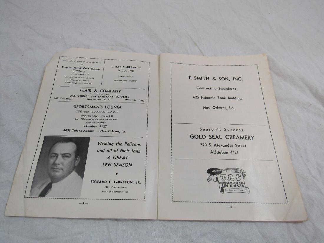 1959 New Orleans Pelicans Score Card - 3