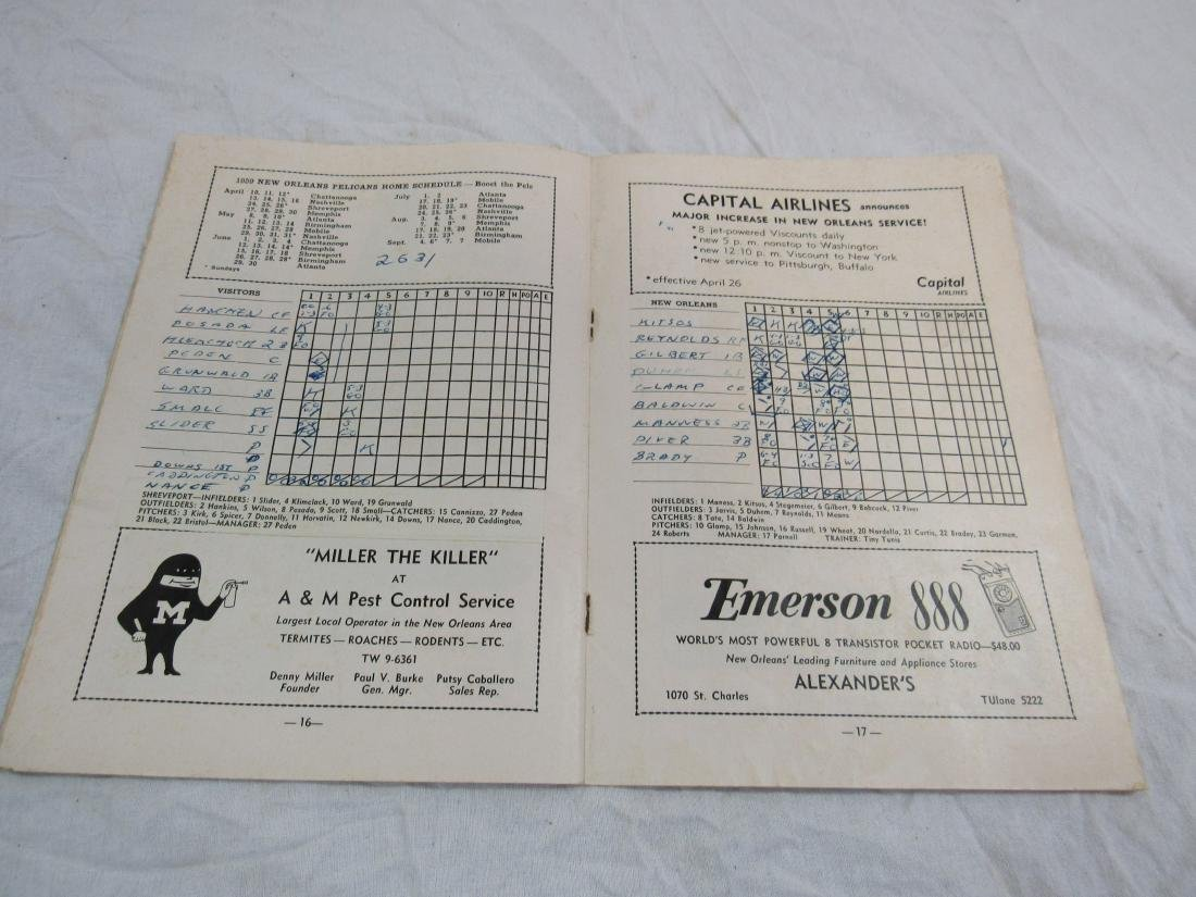 1959 New Orleans Pelicans Score Card - 5