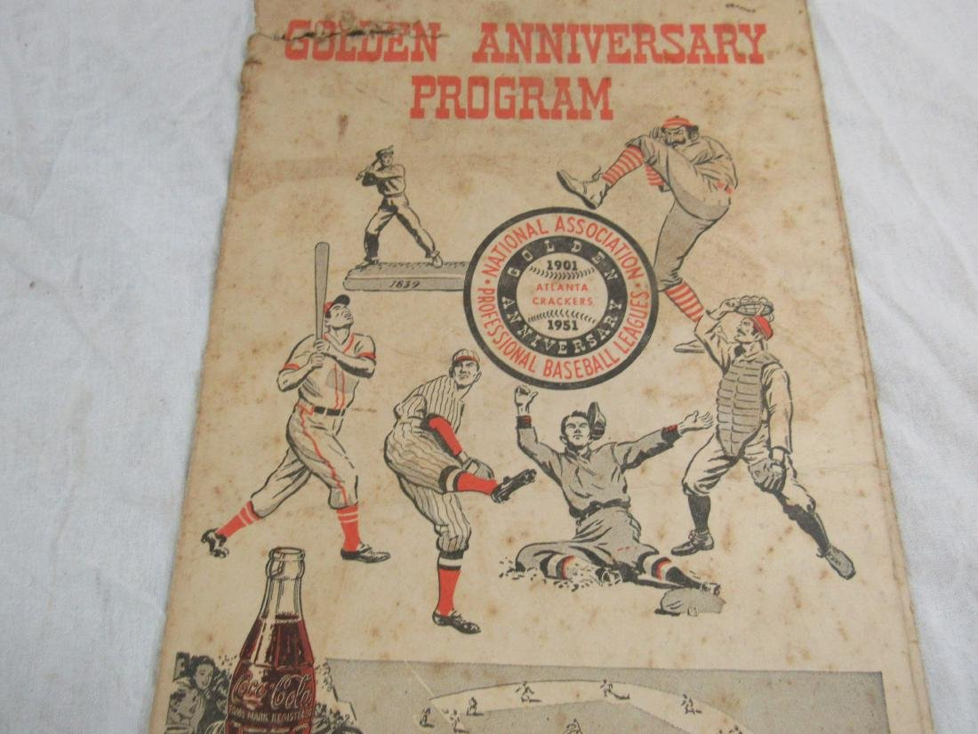 1951 Atlanta Crackers Souvenir Card - 4