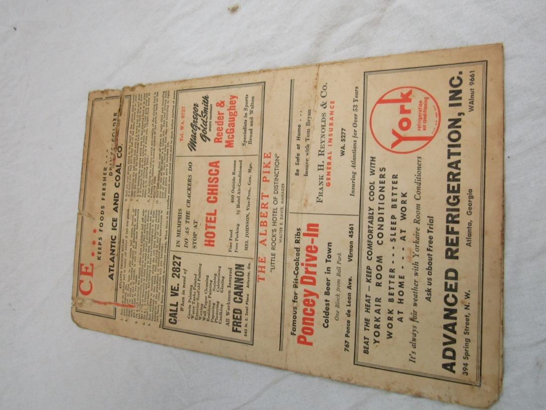 1951 Atlanta Crackers Souvenir Card - 6