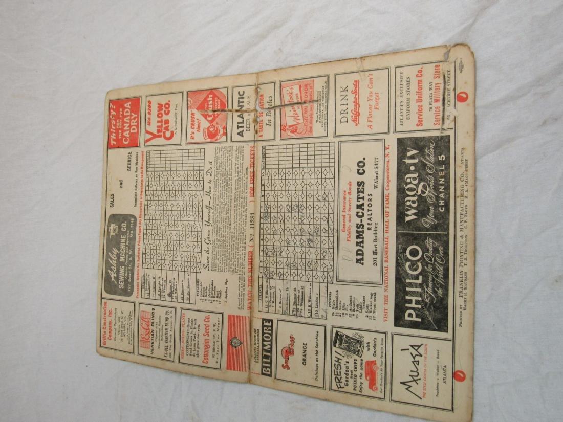1951 Atlanta Crackers Souvenir Card - 7