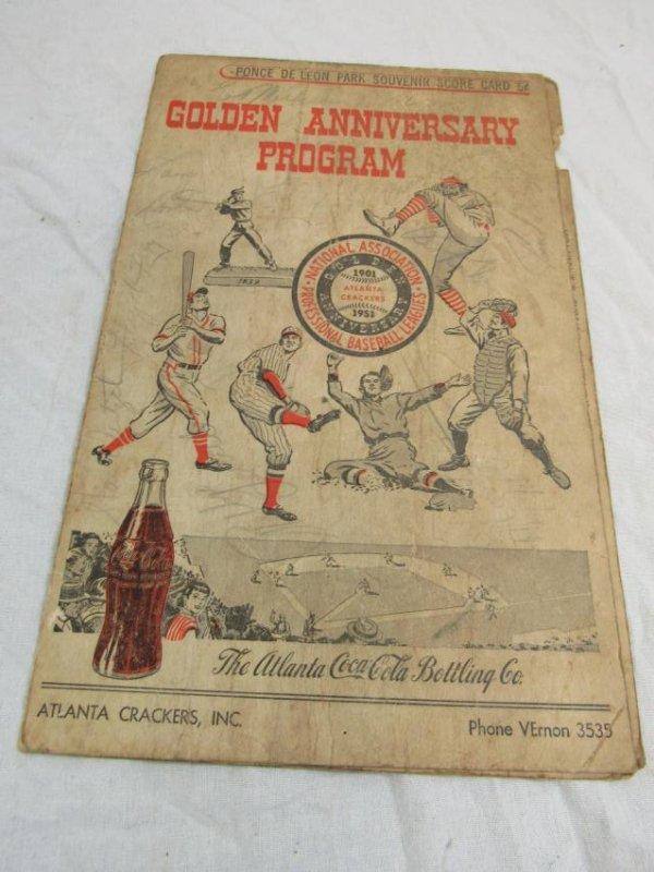 1951 Atlanta Crackers Souvenir Card