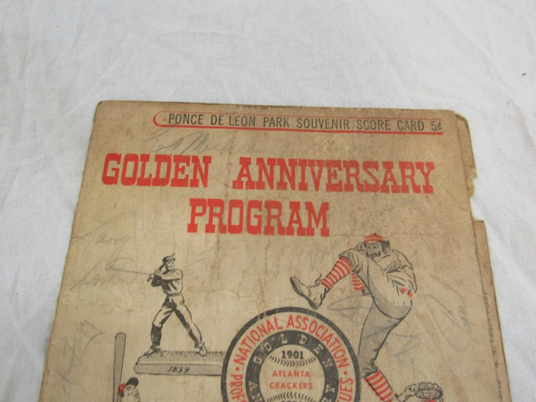 1951 Atlanta Crackers Souvenir Card - 2