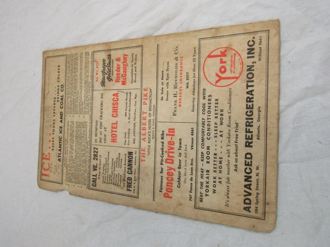 1951 Atlanta Crackers Souvenir Card - 5