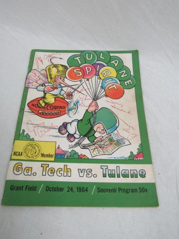 Vintage 1964 Georgia Tech vs Tulane Homecoming Souvenir